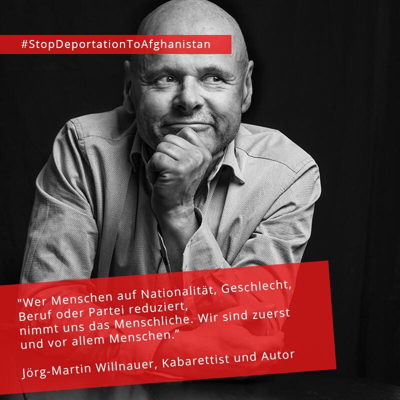#StopDeportationToAfghanistan Jörg-Martin Willnauer