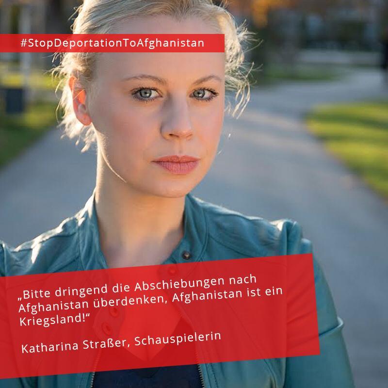Katharina Straßer, österreichische Schauspielerin #StopDeportationToAfghanistan