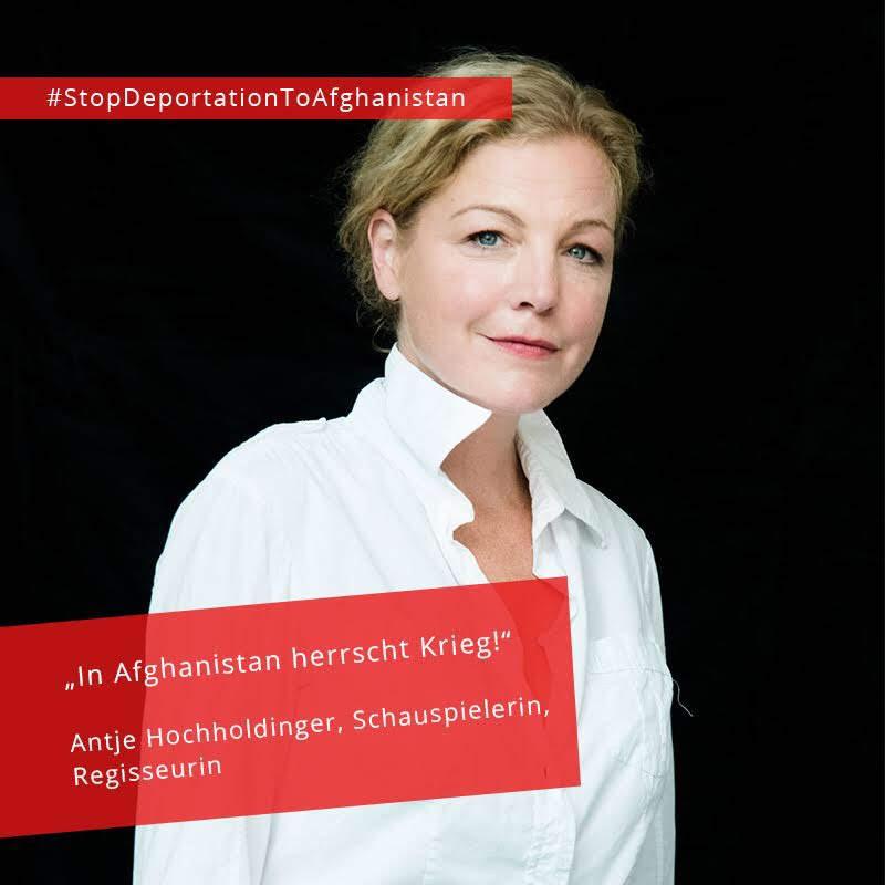 Antje Hochholdinger, Schauspielerin #StopDeportationToAfghanistan